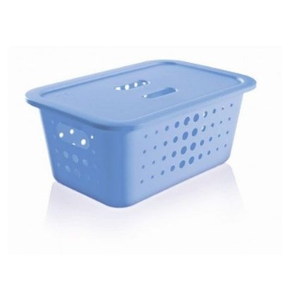 Caixa organizadora M com tampa - Azul - Ou