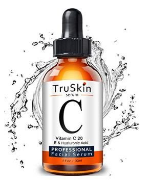 TruSkin Vitamin C Serum for Face, Topical Facial Serum with Hyaluronic Acid, Vitamin E