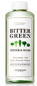 SKIN FOOD Bitter Green Toner & Mask