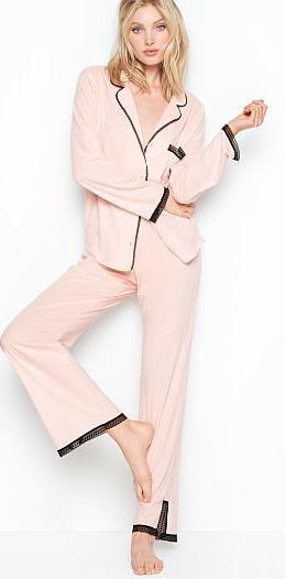 VICTORIA'S SECRET Pijama Longo Rosa