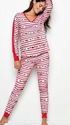VICTORIA'S SECRET Pijama Ribana Estampado