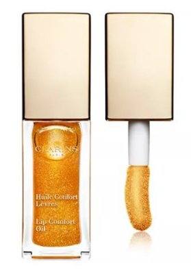 "CLARINS Shimmer & Shine Lip Comfort Oil ""Honey Glam"""