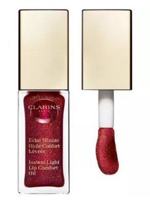 "CLARINS Shimmer & Shine Lip Comfort Oil ""Red Berry"""