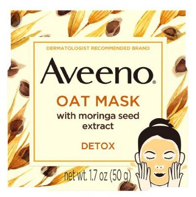 AVEENO Detoxifying Oat Face Mask, Moringa Seed And Vitamin E
