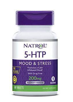 NATROL 5-HTP Time Release tablets, 200mg - 60 cápsulas