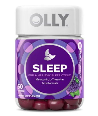 OLLY Sleep Vitamin Gummies with 3mg Melatonin, 50 ct