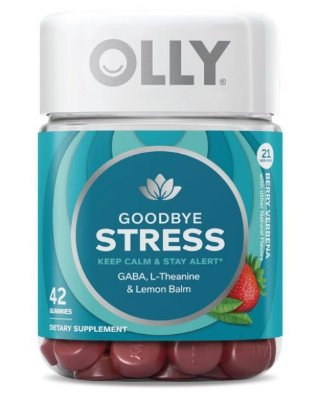 OLLY Goodbye Stress Gummies with GABA, L-Theanine, & Lemon Balm, 42 ct