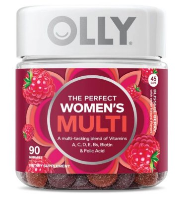 OLLY The Perfect Women's Multi Vitamin Gummies with Biotin, 90 ct