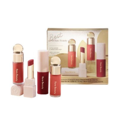 RARE BEAUTY Best of Rare Beauty Lip & Cheek 4 Piece Mini Set