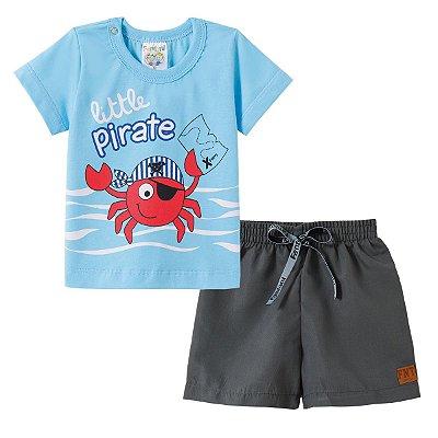 Conjunto Camiseta e Bermuda Little Pirate - Fantoni