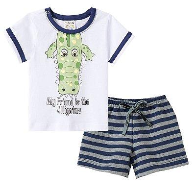 Conjunto Camiseta e Bermuda Alligator - Fantoni
