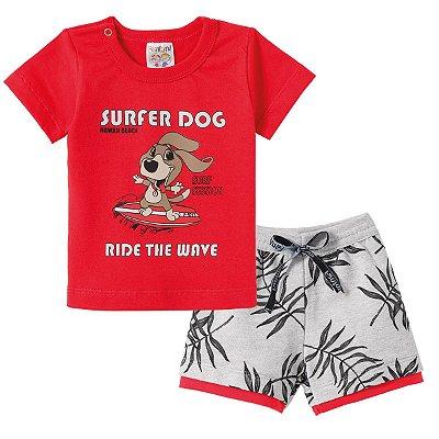 Conjunto Camiseta e Bermuda Super Dog - Fantoni