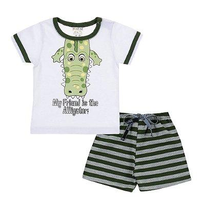 Conjunto Camiseta e Bermuda Alligator Verde - Fantoni
