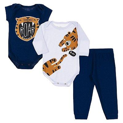 Kit Body Bebê 3 Peças Roar Tigre - Trenzinho