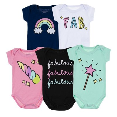 Kit Body Bebê 5 Peças Fabulous - Trenzinho