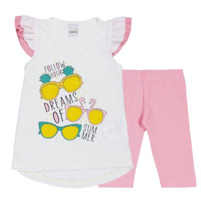 Conjunto Bata Dreams Bege e Legging Cotton