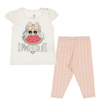 Conjunto Bata Summer e Legging Cotton Estampado Concha