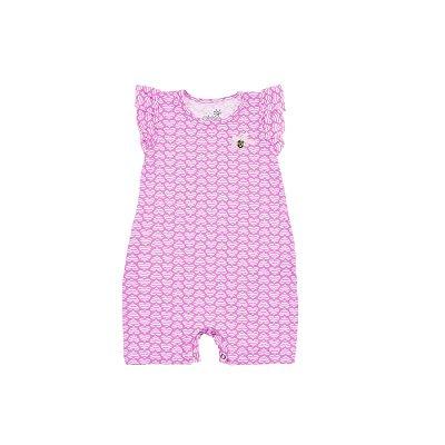 Macaquinho Cotton Estampado Coração Neon Pink