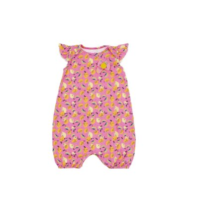 Macaquinho Limao Pink Cotton Estampado