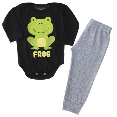 Conjunto Body Manga Longa e Calça Sapo Frog