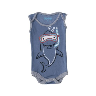 Body Regata Shark Baby - Azul