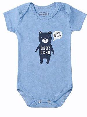 Body Bebê Baby Bear Azul Claro - Bacci