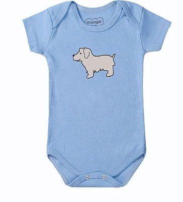 Body Bebê Cachorrinho Azul Claro - Bacci