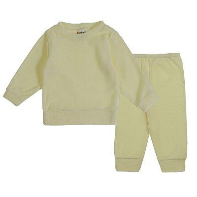 Conjunto de inverno Blusa e Calça Soft Amarelo - Fantoni
