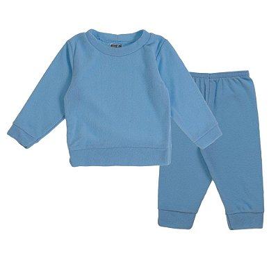Conjunto de inverno Blusa e Calça Soft Azul Claro - Fantoni