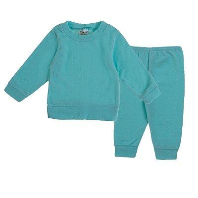 Conjunto de inverno Blusa e Calça Soft Verde Agua - Fantoni