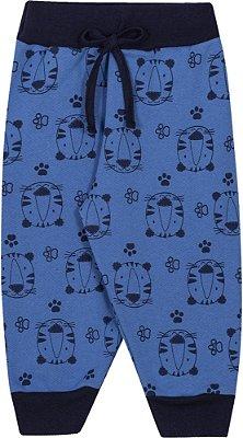 Calça Inverno Moletom Tigres Azul Royal
