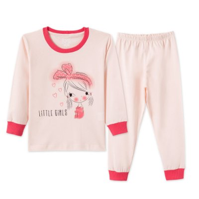 Conjunto Pijama 2 peças Rosa Claro Little Girls