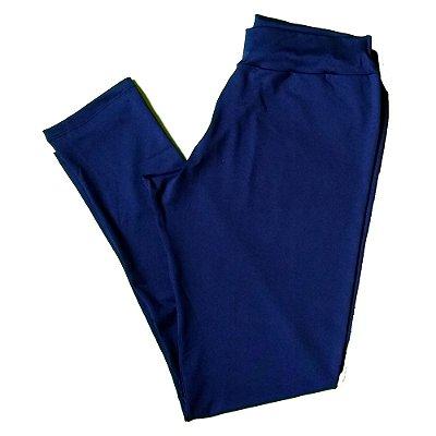 Calça legging azul plus size