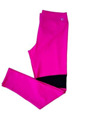 Calça legging Emana rosa detalhe em tule plus size