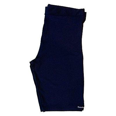 Bermuda ciclista cotton azul marinho plus size
