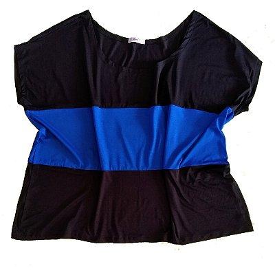 Bata Azul/Preta Plus Size