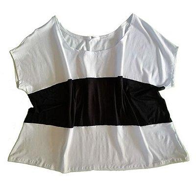 Bata Branca/Preta Plus Size