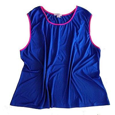 Regata Azul e Rosa Neon Plus Size