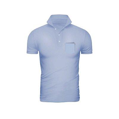 Camisa Polo Phox Premium com bolso Azul Jeans - 1010-17