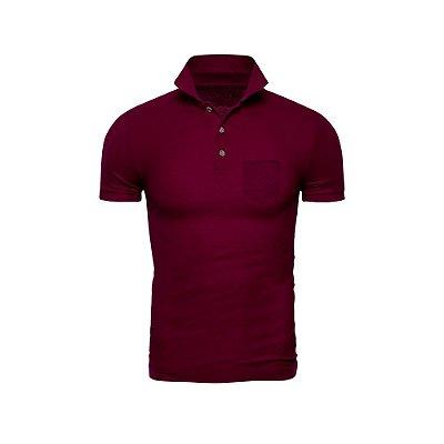 Camisa Polo Phox Premium com bolso Bordô - 1010-16