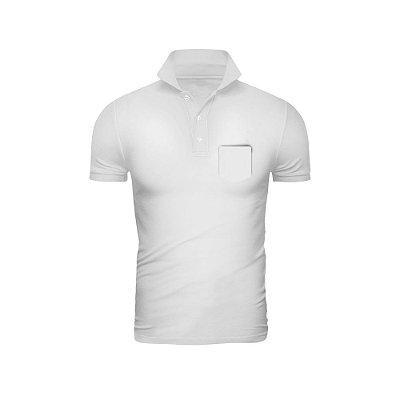 Camisa Polo Phox Premium com bolso Branca - 1010-12