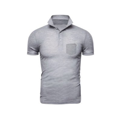 Camisa Polo Phox Premium com bolso Cinza Claro - 1010-15