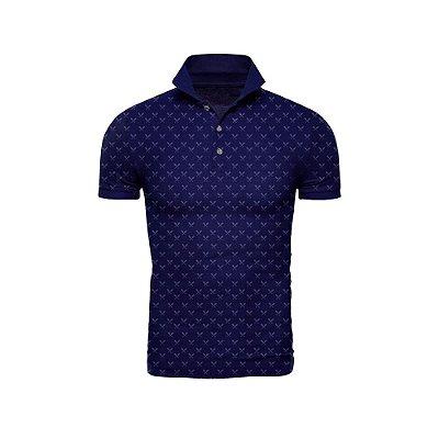 Camisa Polo Azul Marinho Miniprint Tacos - ARK-T3