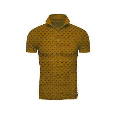 Camisa Polo Mostarda Miniprint Tacos - ARK-T8