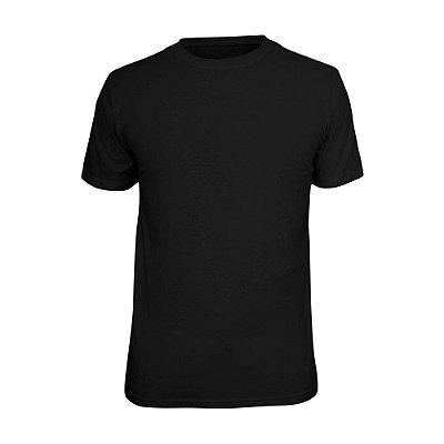 Camiseta Básica Lisa Phox Preta - 1030 - 01