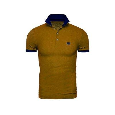 Camisa Polo Phox Gold Mostarda/Marinho - 1020--08
