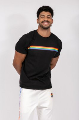 camiseta faixa orgulho