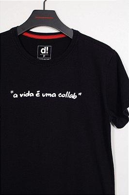camiseta collab preto
