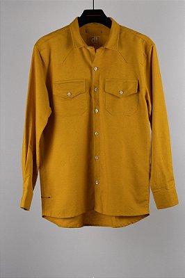 camisa ml linho mostarda