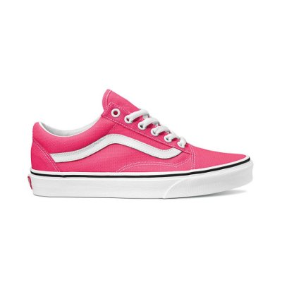 vans old skool neon knockout pink